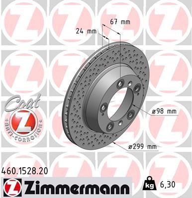 Brake disc ZIMMERMANN